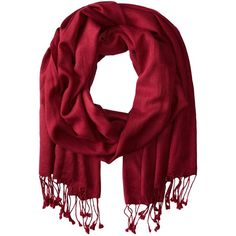 Betsey Johnson Cashmere/Silk Real Pashmina (Burgundy) ($78) ❤ liked on Polyvore featuring accessories, scarves, burgundy scarves, betsey johnson scarves and betsey johnson