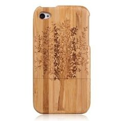 Amazon.com: Tree Imprint Genuine Natural Bamboo Hard Cover Case for Iphone4/4s: Cell Phones & Accessories