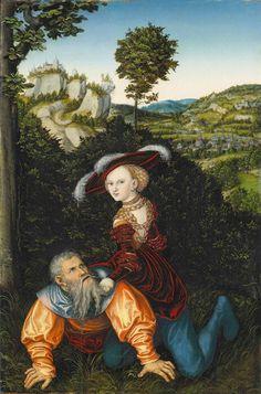 Lucas Cranach the Elder;  Phyllis and Aristotle, (1530)