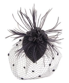 Another great find on #zulily! Black Feather & Mesh Hair Clip #zulilyfinds