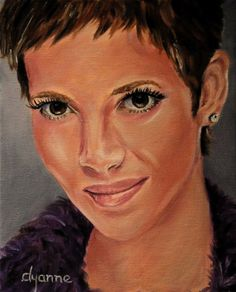 Halle Berry Oil Painting by DyanneParkerArt on Etsy, $155.00