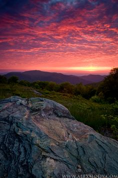 Thoroughfare Mountain Sunrise; Shenandoah National Park, Virginia; photo by Alex Mody