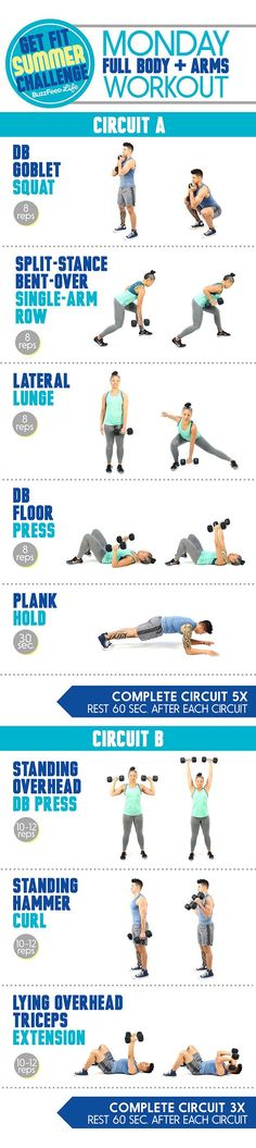 This is the workout you'll do every Monday: | Take BuzzFeed's Get Fit Summer Challenge, Have The Best Summer Of Your...