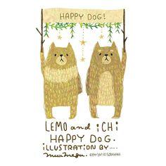 11月1日は犬の日だったみたいなので、遅れちゃったけどお絵描き♪ 実家でずっと一緒にいた愛犬レオをモデルにしたレモと、柴犬のイチ✨ 毎日レオに会いたい!! #illust #illustration #animal #dog #絵 #イラスト #動物 #犬の日 #犬
