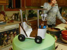 - Gumpaste golf cart topper