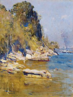 Sir Arthur Streeton April 1867 – 1 September was one of the leading Australian landscape impressionist painters and a member of the Heidelberg School. He is one of my favorite landscape… Australian Painting, Australian Artists, Abstract Landscape, Landscape Paintings, Sunset Landscape, Melbourne, Google Art Project, Virtual Art, Art Academy