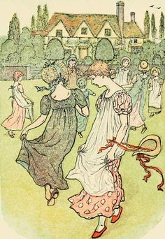 Tom, Tom, the piper's son - Mother Goose or The Old Nursery Rhymes ~ Kate Greenaway, 1881