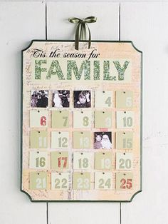 Family Photo Christmas Countdown Calendar
