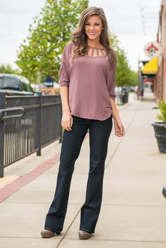 Butterfly Woven Top, Plum - The Mint Julep Boutique
