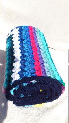 Handmade Shabby Chic Retro Crochet Blanket: Summer Glitter Rainbow #kids #fabulous #rainbow #teens #gift #HomeDecor #glam #sparkle #glitter #GrannySquare Crochet Fashion, Twinkle Twinkle, Shabby Chic, Sparkle, Glitter, Rainbow, Colours, Blanket, Retro
