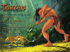 Tarzan the workout! Want to see more workouts like this? Follow us here to see all your favorite tv shows and movies!