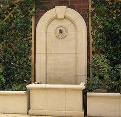 Fuentes de piedra artificial para jardin. Fuentes de pared