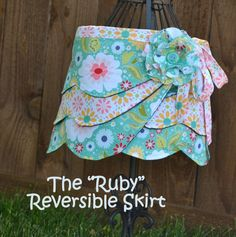 """The """"Ruby"""" Reversible Wrap Skirt pdf Pattern  $6.50...cute, but do I really want to buy this?"""