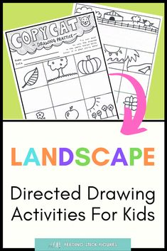 Kids will love this #printable drawing activity! This helps children, students, and #homeschoolers learn how to draw by observation. Learn how to draw trees, fruits, flowers, landscapes and much more. #feedingstickfigures #landscapedrawing #kidsart #drawingforkids #classroomideas #substituteteacher #teachart Drawing Activities, Art Activities For Kids, Art Projects For Teens, School Art Projects, Tools For Teaching, Teaching Art, Drawing For Kids, Art For Kids, Primary School Art