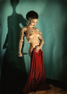 Bride of Frankenstein Pin-Up by Aleksey Galushkov