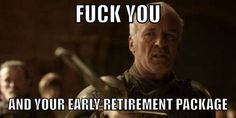 When Joffrey fired the only smart member of the Kingsguard.