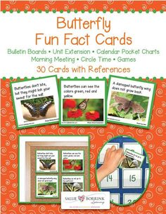 Learn amazing facts about butterflies with Butterfly Fun Fact Cards! These cards…