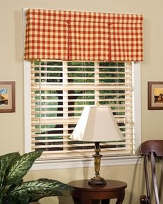 Box pleated valance. Neat, clean, tailored... maybe different material for my personal taste...
