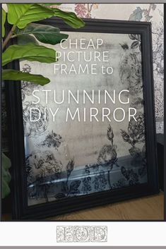 How to make a cheap picture frame look like an expensive mirror! In this DIY distressed mirror tutorial, you'll learn how to take a thrift or Dollar Store picture frame and transform it into an Anthropologie-style mirror. Beyond easy DIY home decor with beautiful results with IOD stamps and decor inks. Diy Furniture Easy, Diy Furniture Projects, Painted Furniture, Diy Home Decor Bedroom, Diy Wall Decor, Cheap Picture Frames, Boho Diy, Boho Decor, Distressed Mirror