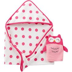 Child Of Mine By Carters Newborn Baby Girl Hooded Towel and Bath Mitt Gift Set - Walmart.com