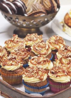 Banoffee Cupcakes with Salted Caramel Sauce