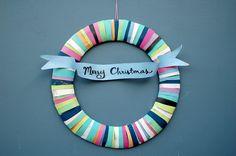 paper wreath  The Party Goddess! Marley Majcher   www.thepartygoddess.com ©  #wreath #DIY #craftsforkids