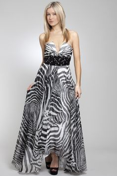 Selling this Purple Zebra Print Prom Gown!!! Price: $150 ...