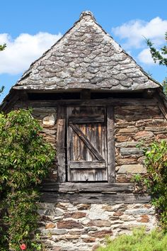 """South Side - While we stayed for some days at the """"Massif Central"""" - Département Aveyron - in the south central of France, we visited the very small worth seeing village """"Le Fel"""". The photograph shows the gable end of one of the old and beautiful houses in this little commune."""