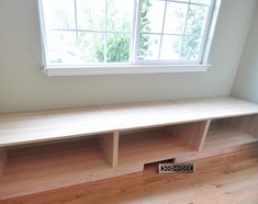 Window seat from ikea refrigerator shelves - This is just what I want for the…
