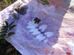 Creative Playhouse: Spray Painting Leaves