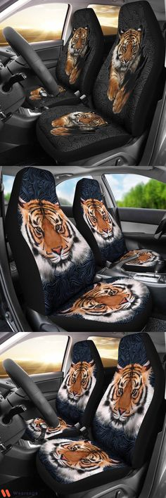 Tiger 3D Car Seat Covers Seat Covers, Tigers, Alexander Mcqueen Scarf, Car Seats, Backpacks, 3d, Hoodies, Sneakers, Jackets