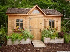 Amazing Shed Plans - Garden Shed Plans - How to Build a Shed - Now You Can Build ANY Shed In A Weekend Even If You've Zero Woodworking Experience! Start building amazing sheds the easier way with a collection of shed plans! Backyard Studio, Backyard Sheds, Outdoor Sheds, Garden Sheds, Garden Boxes, Studio Hangar, Studio Shed, Shed Kits, Potting Sheds