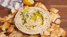 Cauliflower Hummus - cauliflower, olive oil (would reduce), kosher salt, black pepper, tahini (might reduce), lemon juice, honey (would omit or sub another sweetener), garlic clove, fresh parsley, cayenne pepper, pita chips (for serving, would omit or serve with veggies/something else)