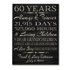 Hey, I found this really awesome Etsy listing at https://www.etsy.com/listing/225848220/personalized-60th-anniversary-gift-for