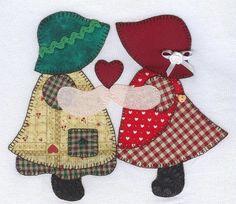 Hand Applique, Applique Patterns, Applique Quilts, Applique Designs, Embroidery Applique, Quilt Patterns, Sunbonnet Sue, Holly Hobbie, Mini Quilts