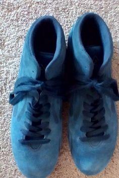 Blue Suede Michael Schumacher FILA SPORT SHOES DRIVING BOOTS F1 Racing  Number 1 Racing Shoes 00976bd074d