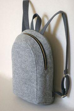 MACBOOK 13 FELT RUCKSACK backpack felt bag by FUTERAL on Etsy                                                                                                                                                                                 More