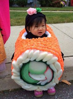 The cutest sushi (although it doesn't seem too comfy)