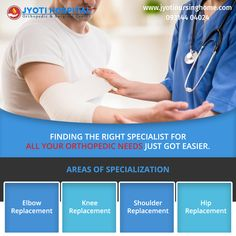 World class surgical treatment of major orthopedic injuries is available at #jyotinursinghome. Complex surgeries like #kneereplacement #Hipreplacement #Shoulderreplacement #Elbowreplacement are treated by experienced panel of doctors. Visit link in the bio to know in detail. https://goo.gl/jviwQt