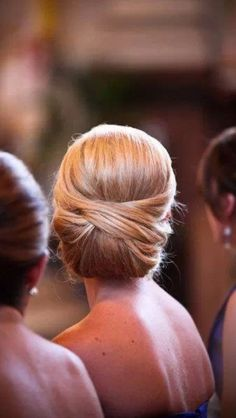 Gorgeous simple hair - bridesmaids???