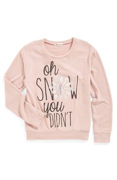 Ten Sixty Sherman 'Oh Snow You Didn't' Sweatshirt (Big Girls) available at #Nordstrom