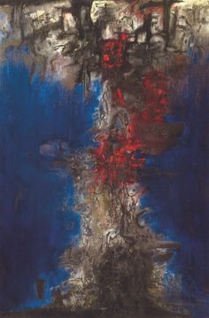 Zao Wou-Ki, The Night is Stirring, 1956, oil on canvas, collection of Art Institute of Chicago © Art Institute of Chicago