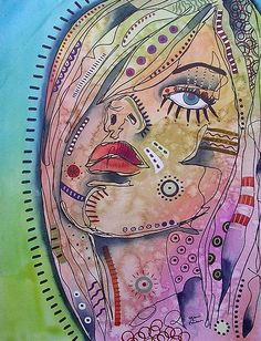 Funky Face Painting by Gail Miller - Funky Face Fine Art Prints and Posters for Sale