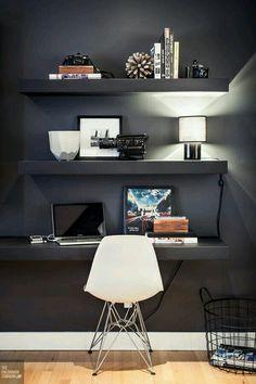 Inspiração ♡ #interiores #design #interiordesign #decor #decoração #decorlovers #archilovers #inspiration #ideias #escritório #homeoffice