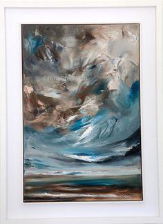 'Evening Sky'An ... Contemporary Art For Sale, Contemporary Paintings, Original Art, Original Paintings, Sky Painting, Irish Art, Evening Sky, Abstract Expressionism Art, Landscape Paintings