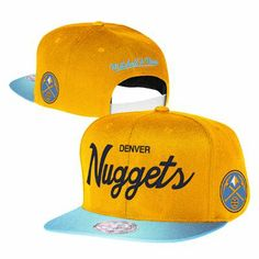 Denver Nuggets Mitchell and Ness NBA Two Tone Reflective Snapback Hat  (Gold) Denver Nuggets 59b9507c1d5
