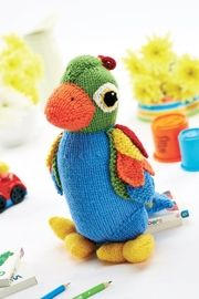 Free Knitting Pattern - Toys, Dolls & Stuff Animals: Jason the Parrot