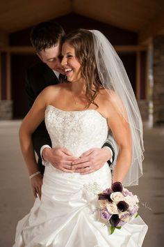 Sinder's bride Bonnie in Priscilla by Maggie Sottero