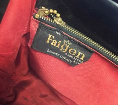Vintage leather bag label Faigen Vintage Labels, Jansport Backpack, Vintage Leather, Leather Bag, Etsy Seller, Trending Outfits, Unique Jewelry, Handmade Gifts, Bags