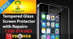 Free Tempered glass with repairs All Mobile Phones, Mobile Phone Repair, Screen Replacement, Screen Protector, Iphone, Glass, Free, Drinkware, Corning Glass